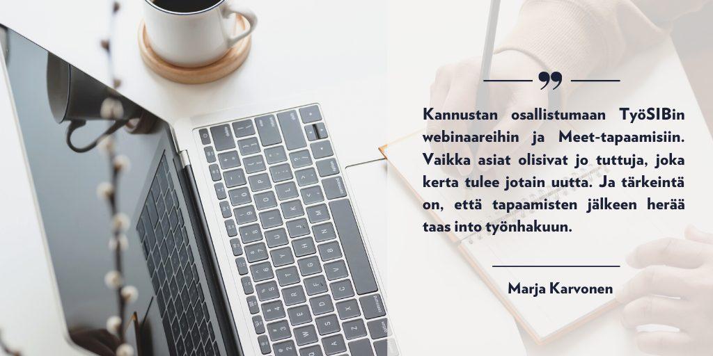 blog työ sib Marja Karvonen